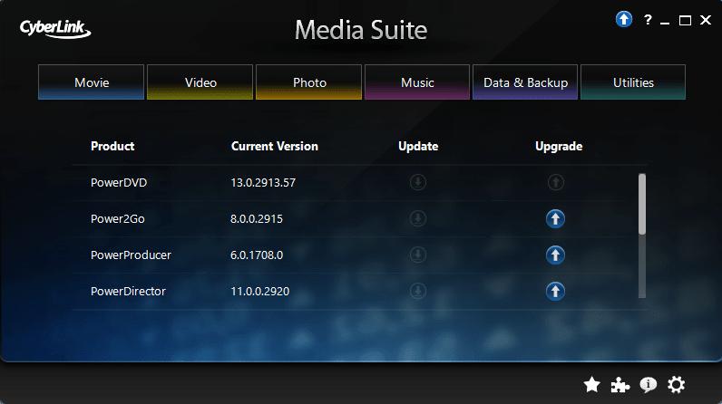 Suite content info