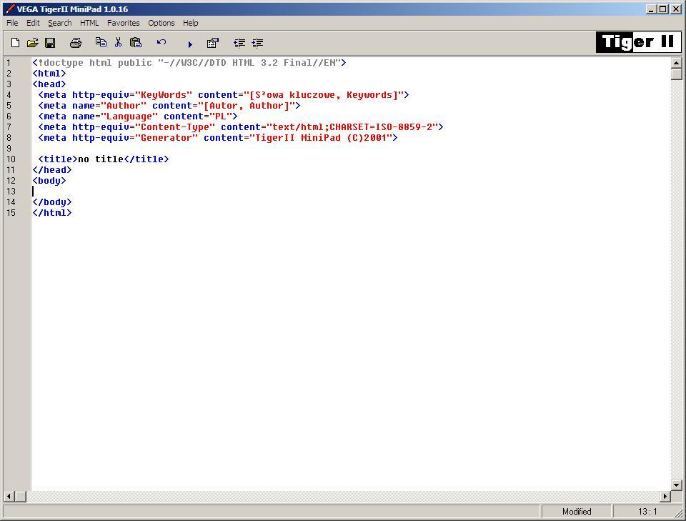 HTML MiniPad Editor