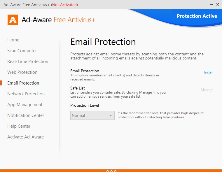 E-mail Protection Options