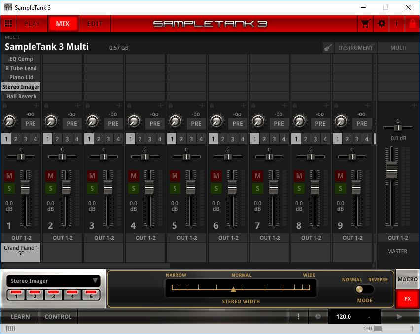 Mix interface