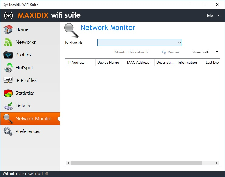 Network Monitor Tab