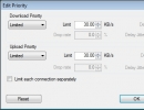 Priority and Speed Limit Settings for a Process