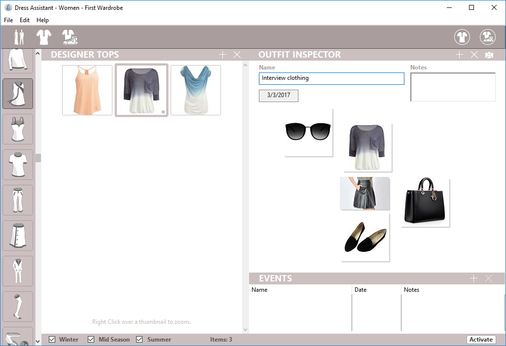Creating Outfit