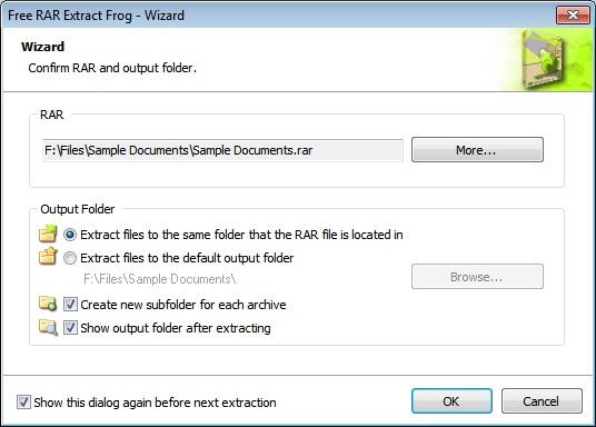 Select RAR File