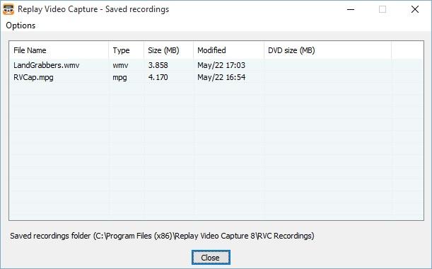 Saved Recording