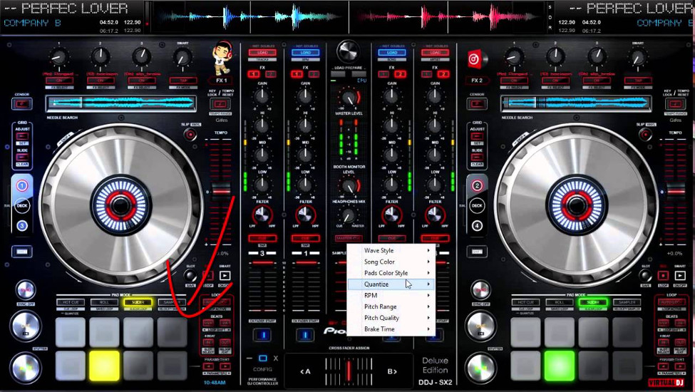Advanced track mixing