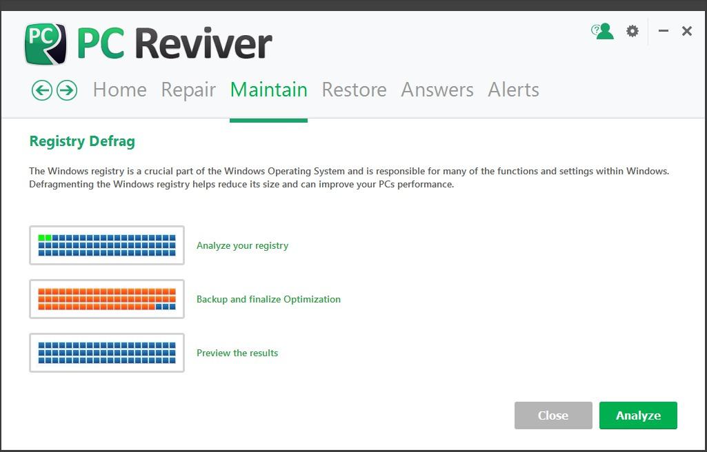 Registry Defrag Tool
