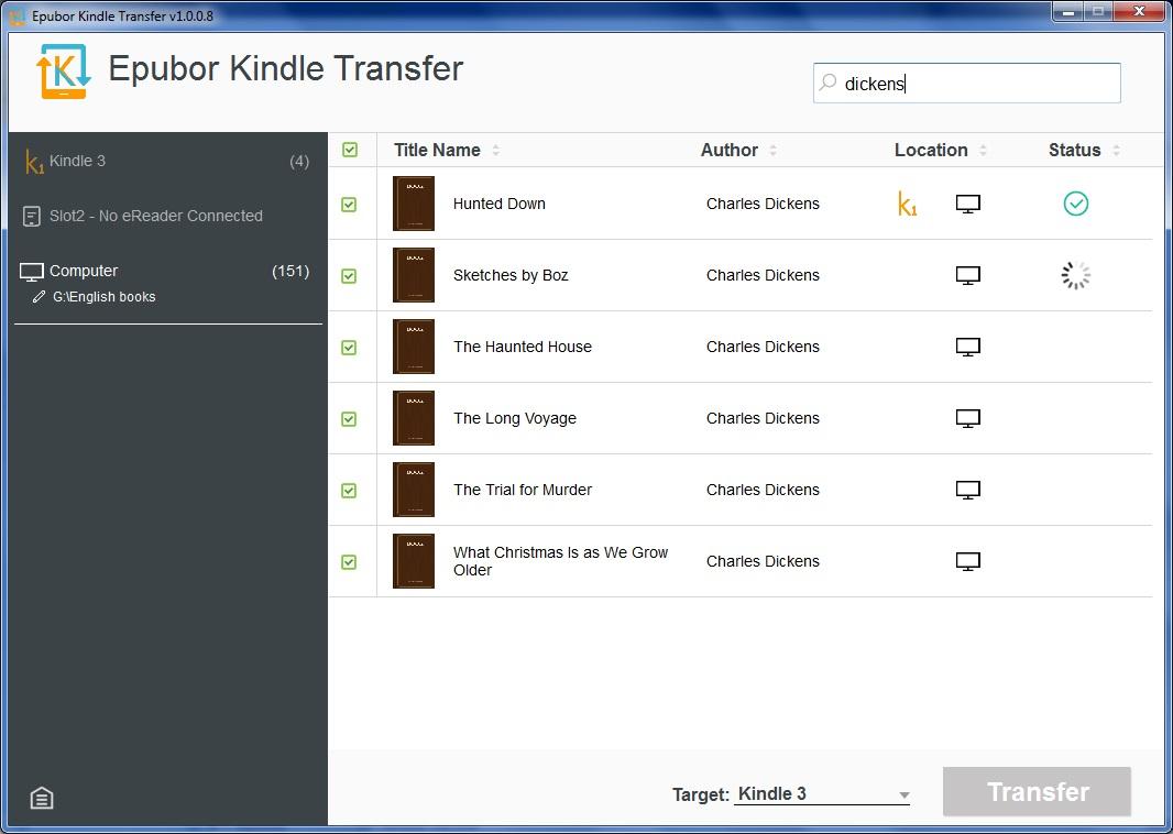 Transferring E-books