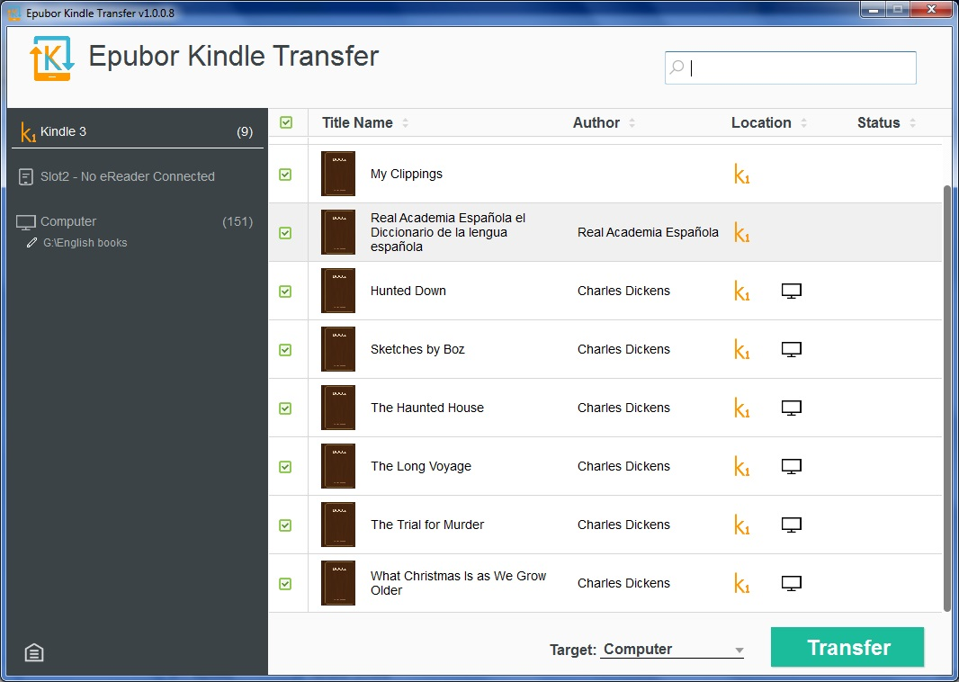 E-books Transferred