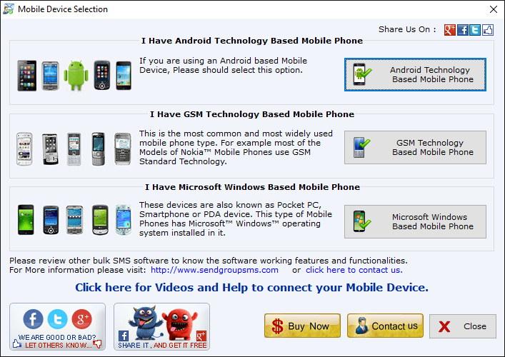 Mobile Selection