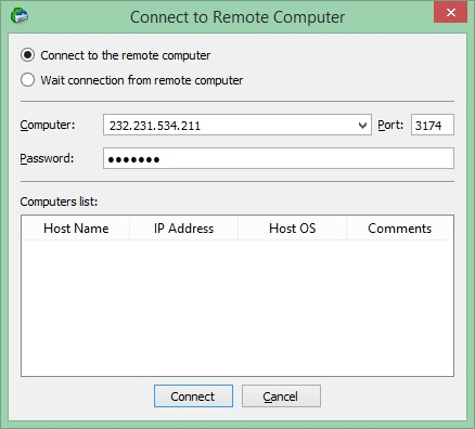 Connect to Remote Computer