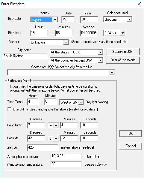 Editing birth data