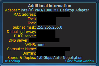 Additional network information