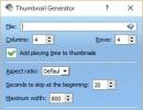 Thumbnail generator