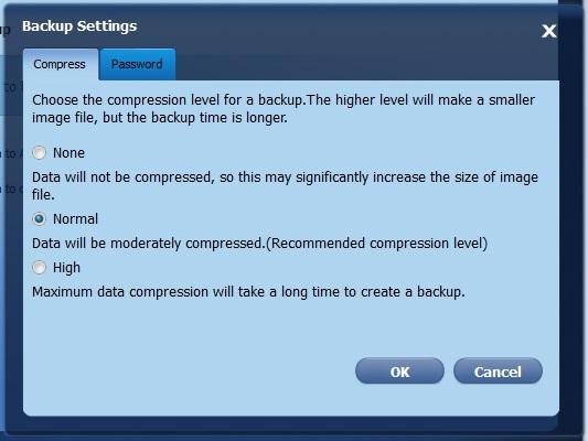 Backup Compression Settings
