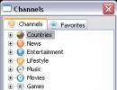 Channels Window