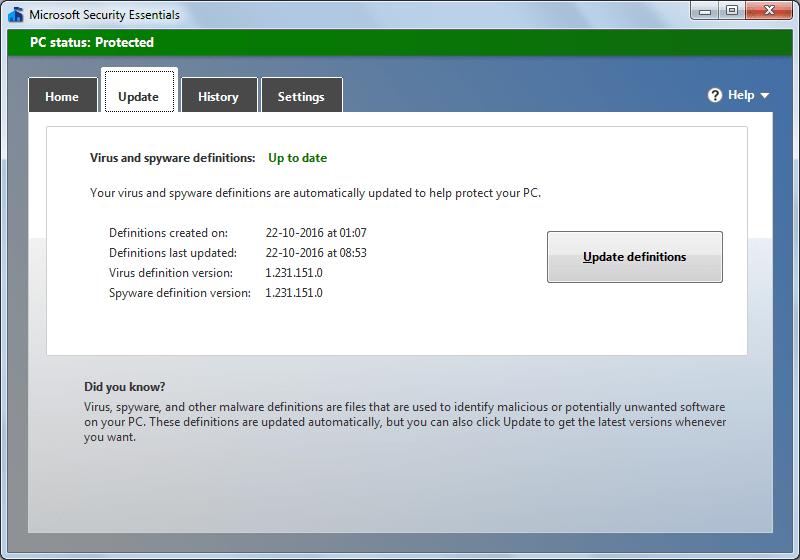 Update Screen