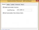 Options Windows - General Tab