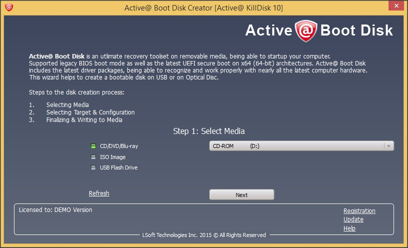 Active@ Boot Disk Tool