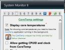 CoreTemp Settings