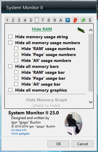Hide RAM Options