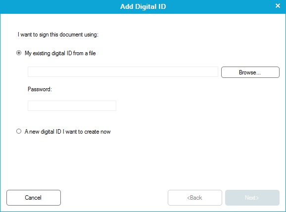 Add digital signature
