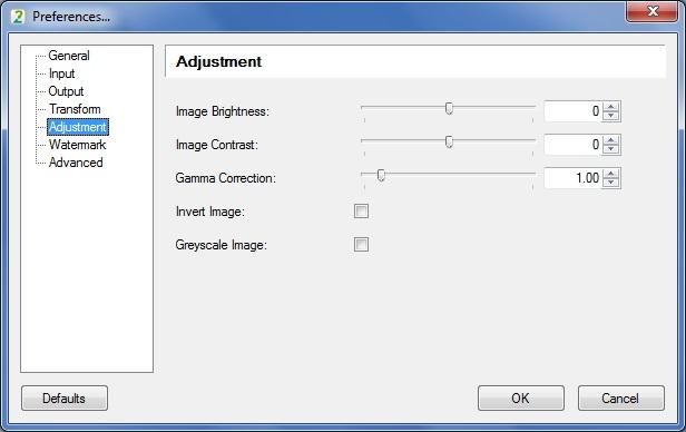 Adjustment Options