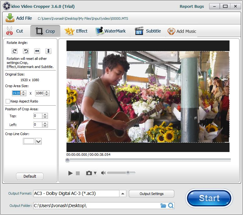 Video Cropping Tool