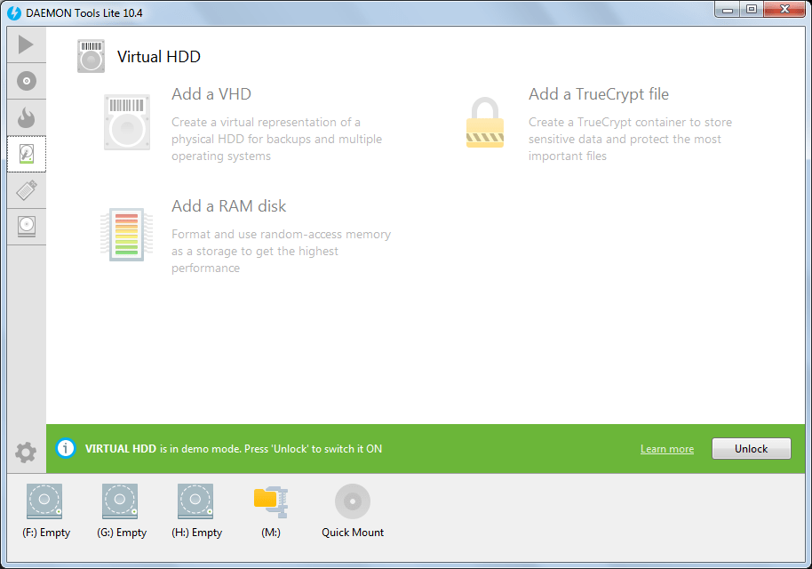 Virtual HDD
