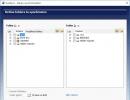Wizard- Define folders to sinchronize