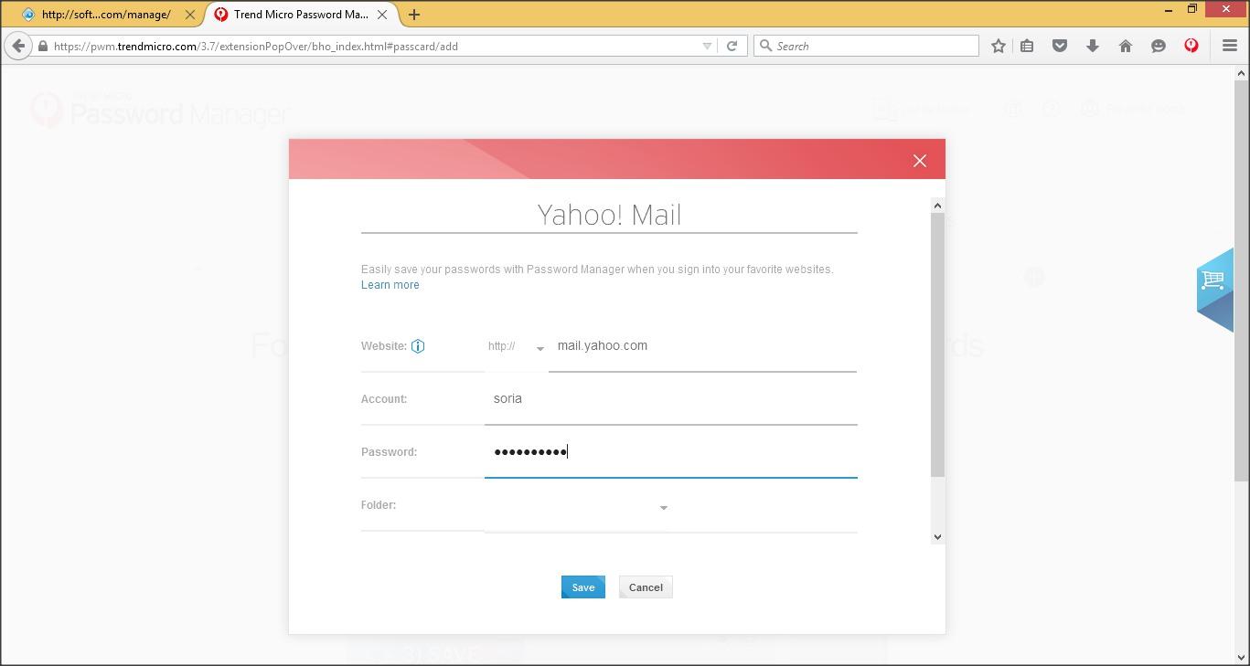 Manual Password Creation