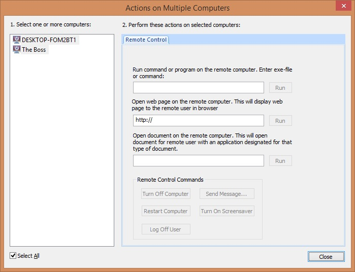 Actions on Multiple Computers