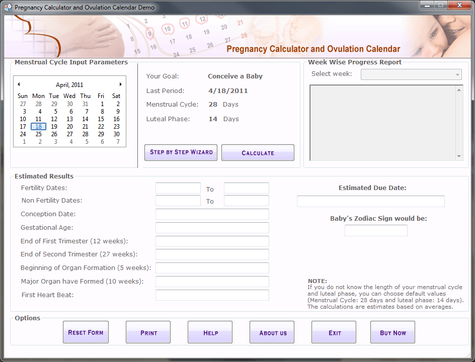 Pregnancy Calculator & Ovulation Calendar