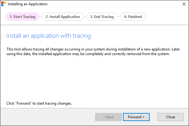 Installing App with Tracing