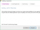 Install an Application with Tracing