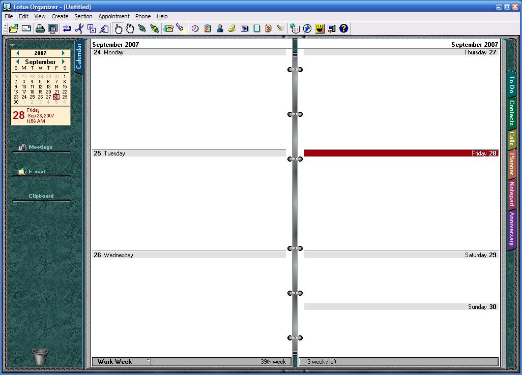 Lotus Organizer Screenshots