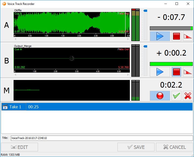 Voice Track Recorder