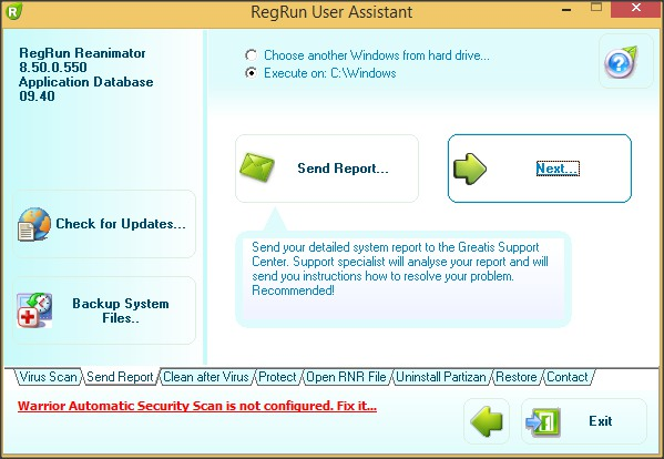 RegRun Reanimator User Assistant
