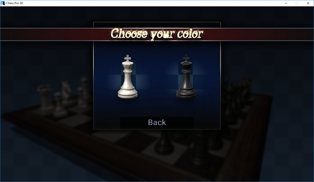 Choosing Chess Piece Color