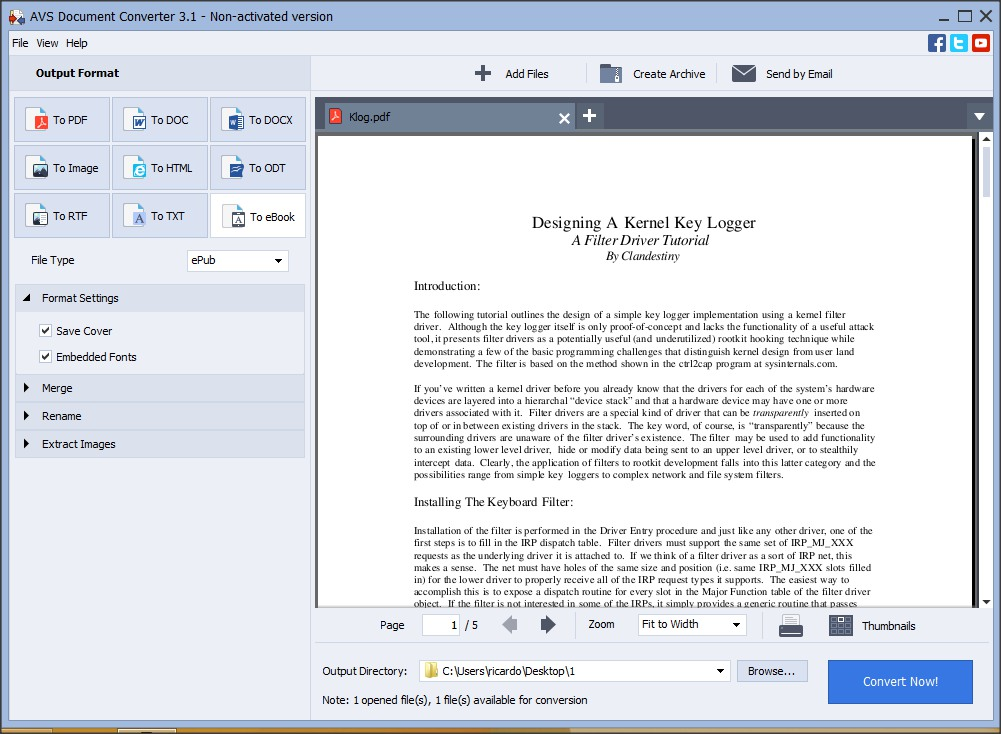 PDF to eBook Conversion