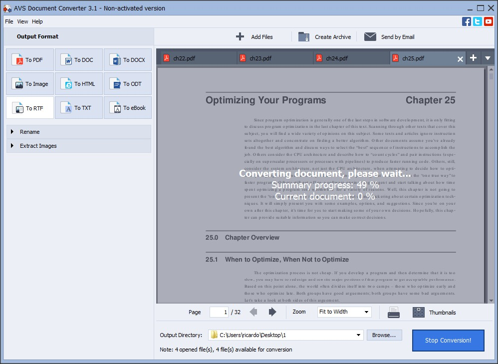 Document Conversion Process