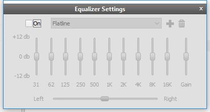 Equalizer Settings