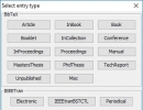 Select Entry Type