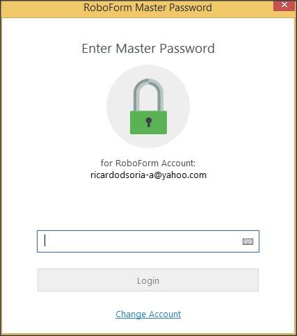 Master Password Request