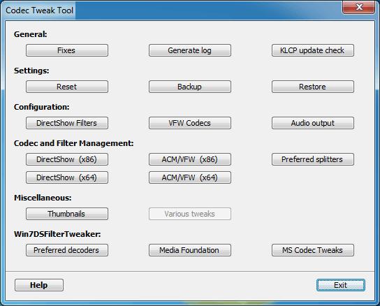 Codec Tweak Tool