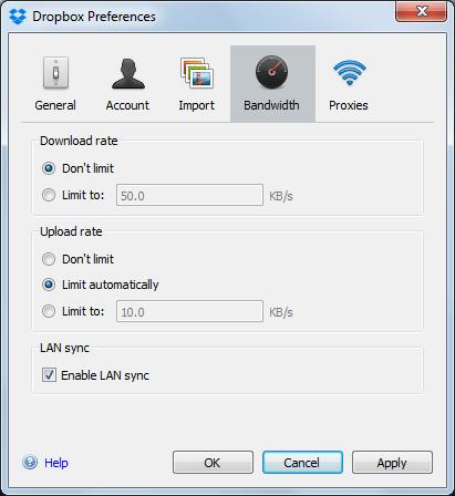 Bandwidth Control Window