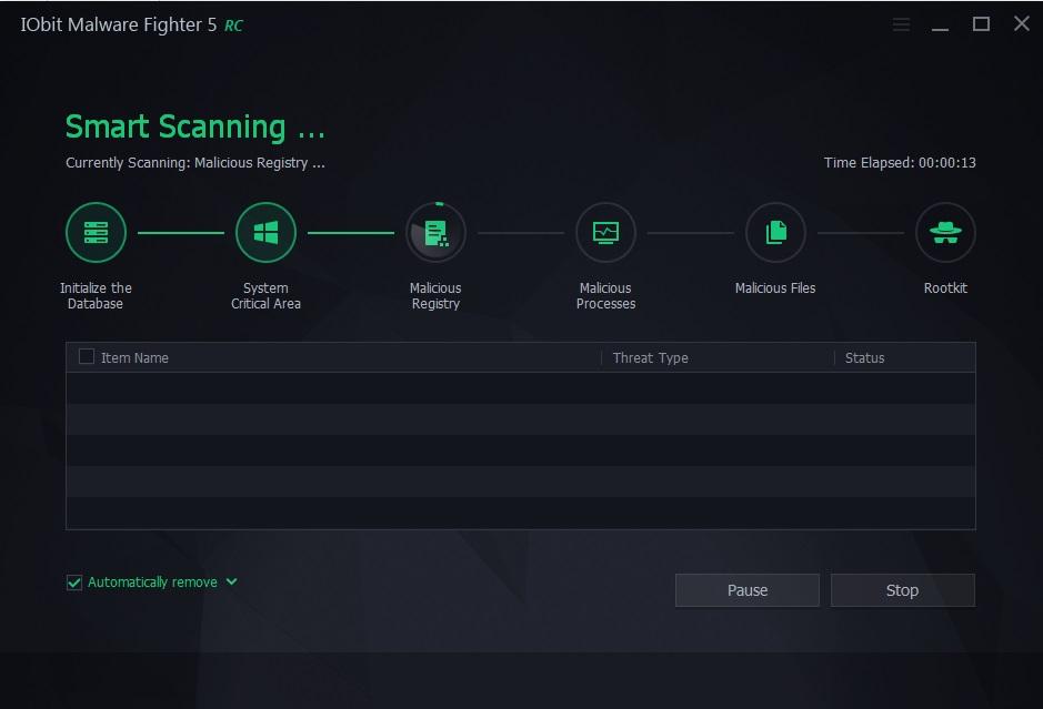 Smart Scan in Progress