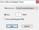 Running a macro