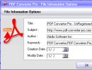 File information options
