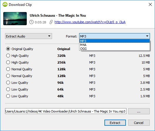 Select Audio Format